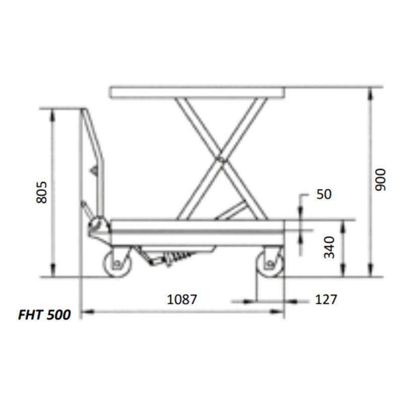 Unicraft FHT 500 - rysunek techniczny