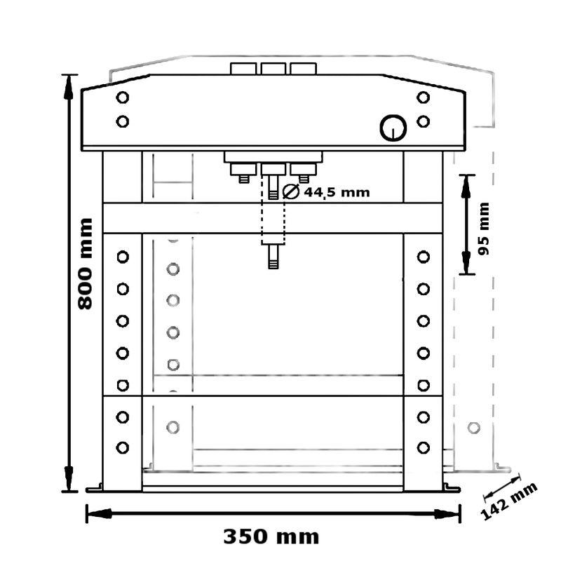 Unicraft WPP 15 TH TOP - rysunek techniczny, wymiary