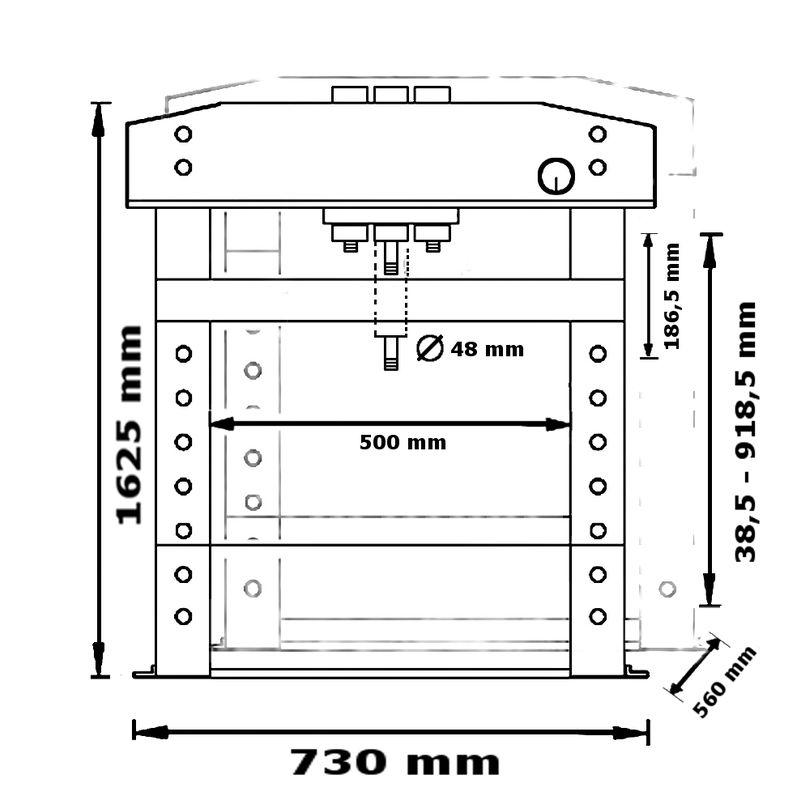 Unicraft WPP 20 E - rysunek techniczny, wymiary