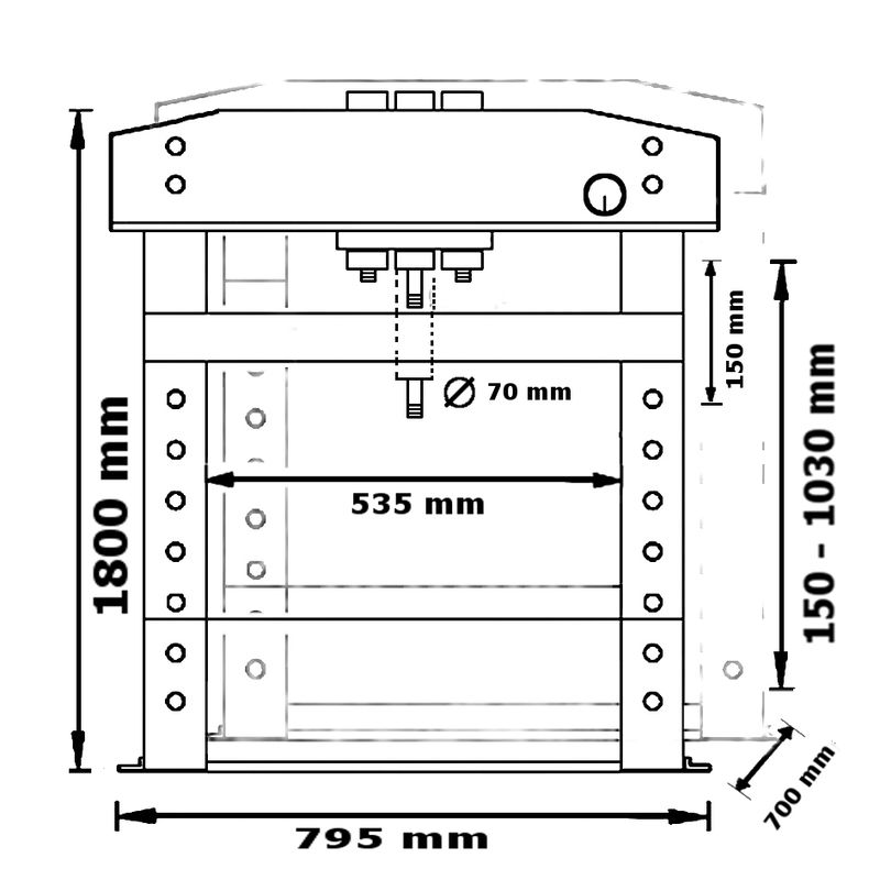 Unicraft WPP 30 E - rysunek techniczny, wymiary