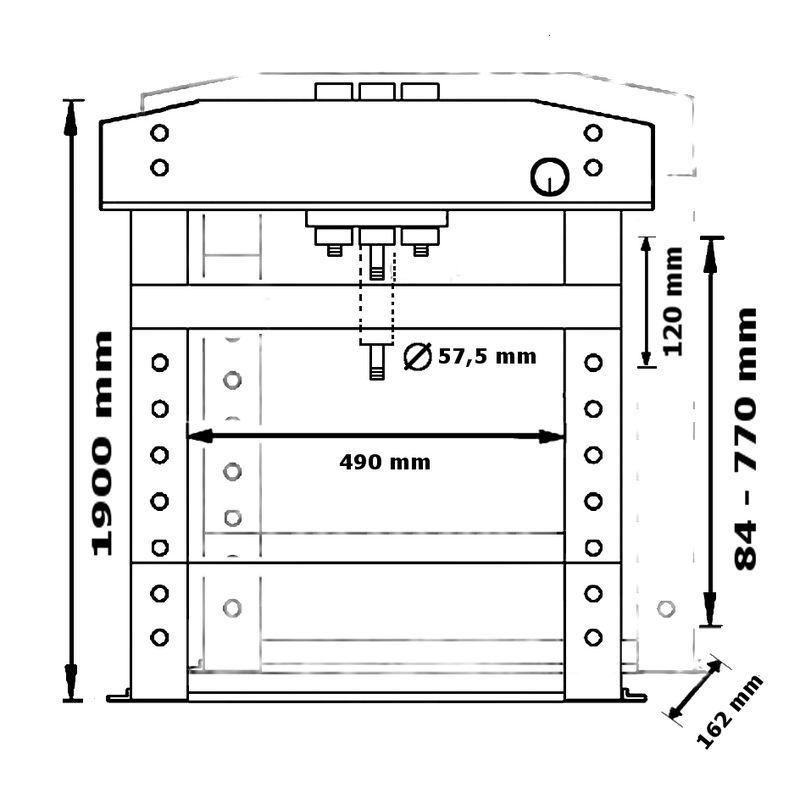 Unicraft WPP 30 BPH TOP - rysunek techniczny, wymiary