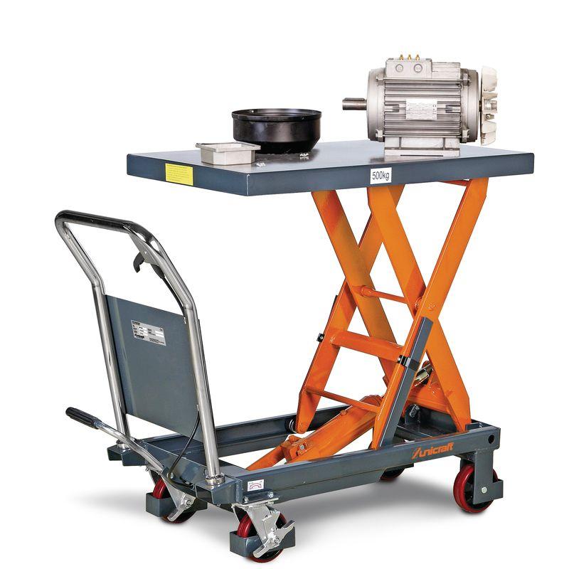 Unicraft FHT 500 - widok stołu w stanie podniesionym