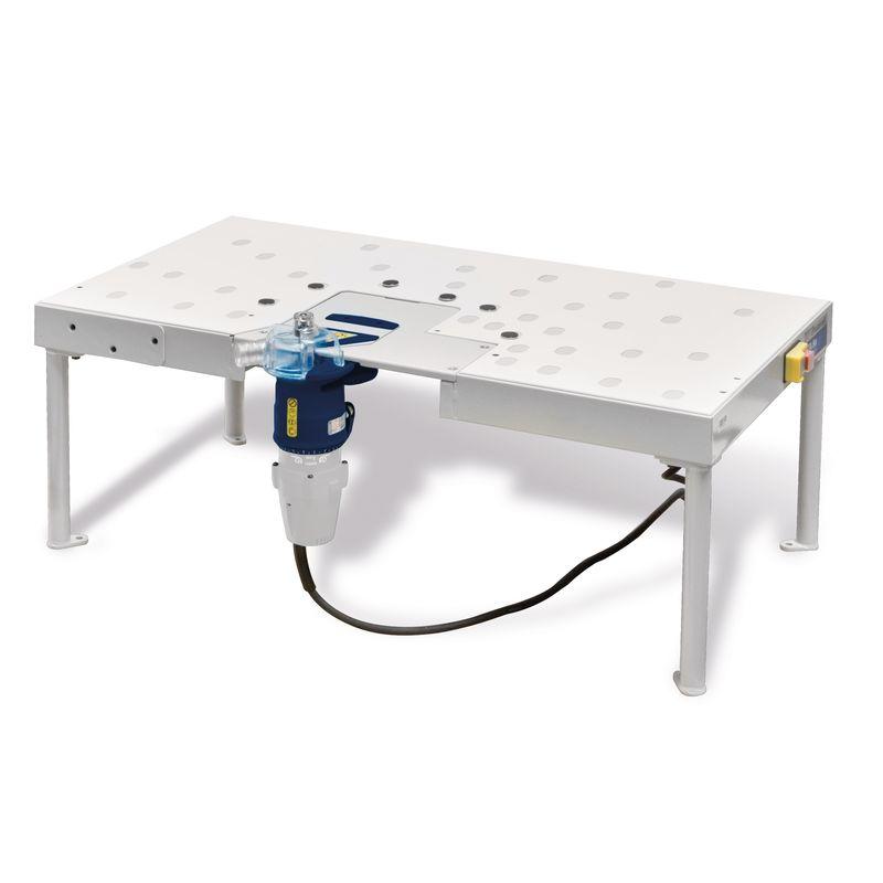 Holzkraft STA 80 - możliwość zamontowania osprzętu (frezarka nie należy do zestawu)