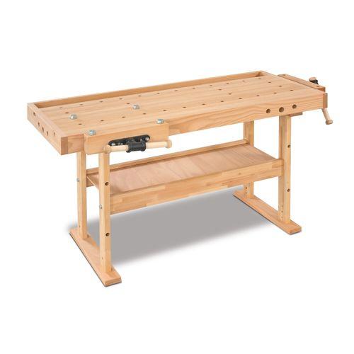 stół stolarski z imadłami