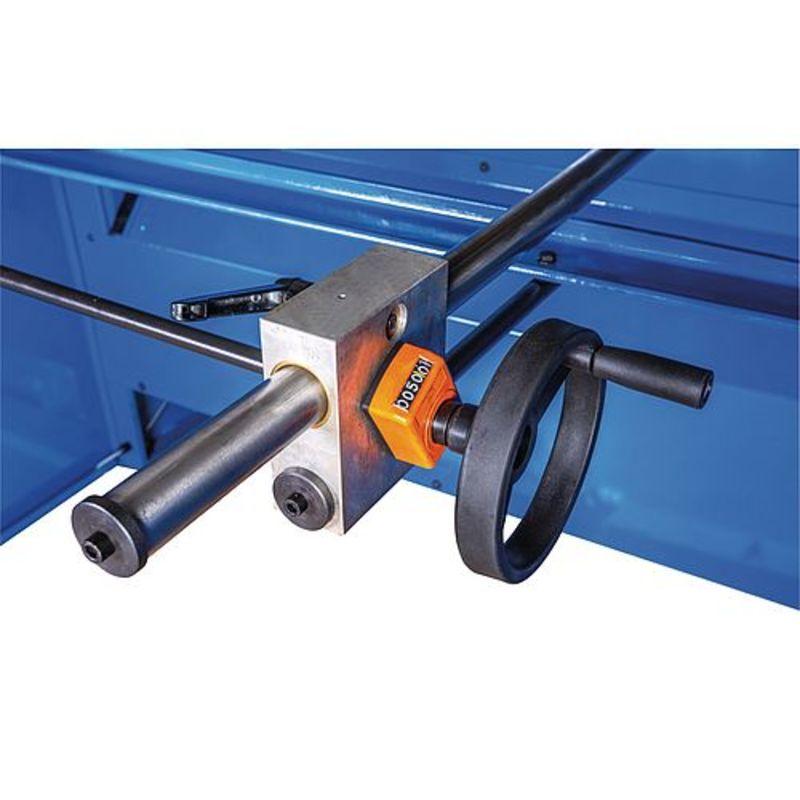 Metallkraft MTBS 1255-40 E - precyzyjna regulacja ogranicznika tylnego