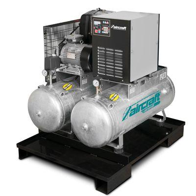 Dwuzbiornikowy kompresor z osuszaczem - Aircraft AIRPROFI DUO 703/2x100/10 K
