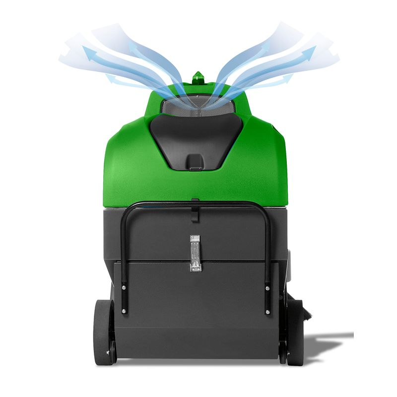 Cleancraft AUKM 800 - wylot powietrza zapobiega wzbijaniu kurzu
