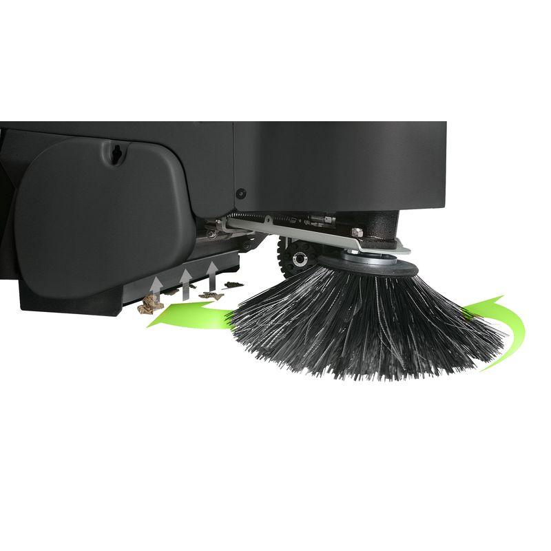 Cleancraft AUKM 800 - szczotki boczne z odsysaniem pyłu