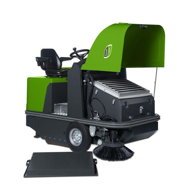 Cleancraft AUKM 900 - otwarta pokrywa z filtrami